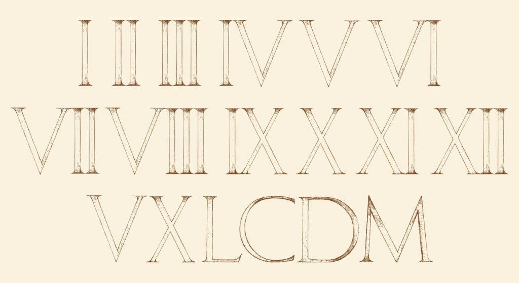 Números Romanos I V X L C D M Lista Completa Del 1 Al